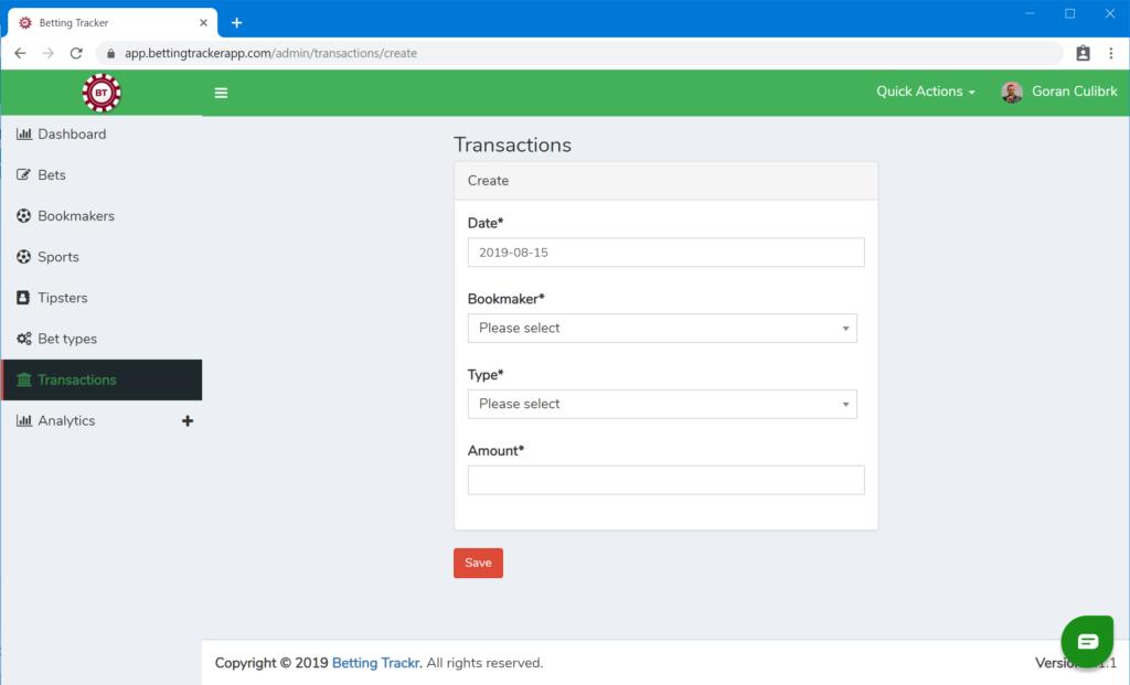 Create transaction 2