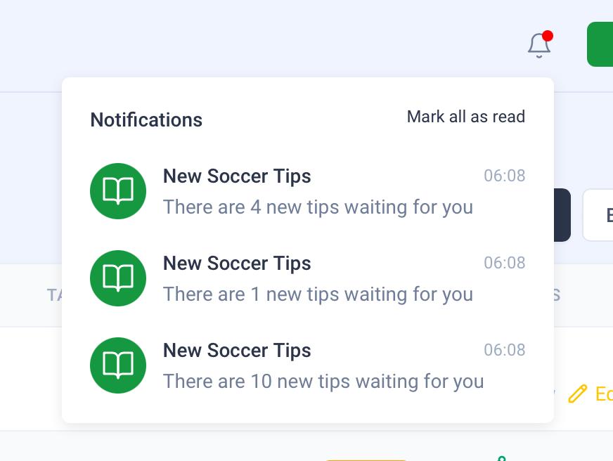 Instant notifications